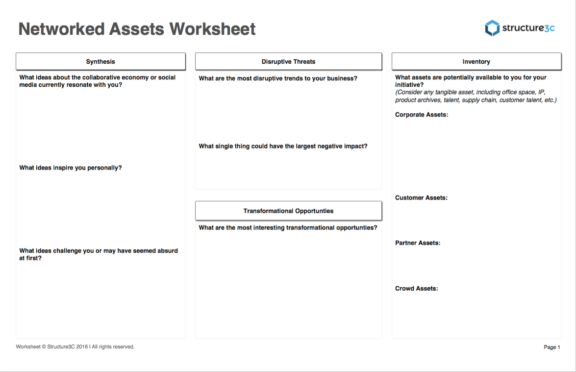 Networked Assets Worksheet @Structure3c
